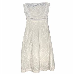 American Eagle 2 strapless white cotton dress (E)